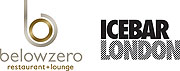 logo for belowzero restaurant + lounge & ICEBAR LONDON