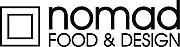 logo for nomad food & design